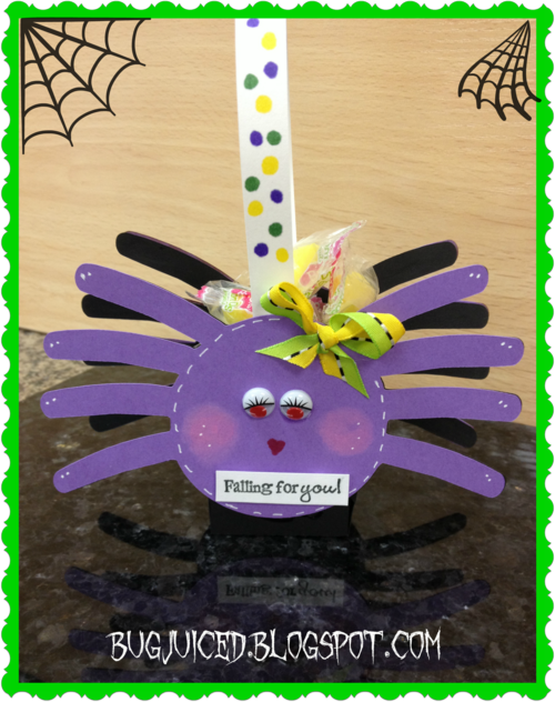 Falling for you  Debbie Crowder  Spider treat box