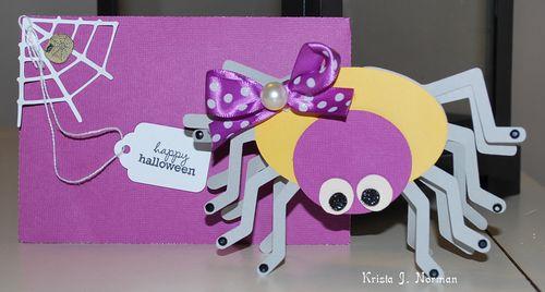 Happy halloween Krista Norman - Spiderweb shaped card set