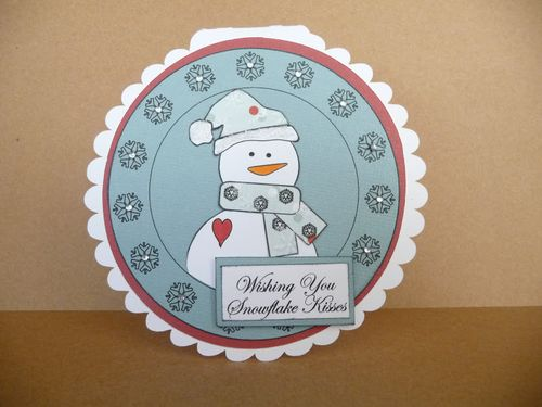 Wishing you Snowflake Kisses  Jeri Thomas - Snowflake huge circle set