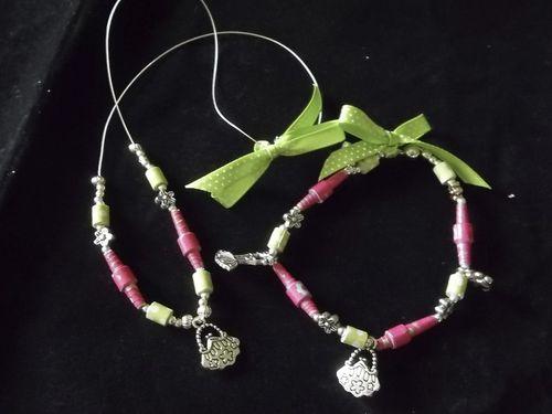Paper bead set  Doris Molina - Paper beads set