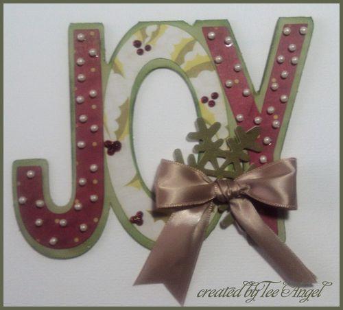 JOY  Tee Angel - Joy word shaped card