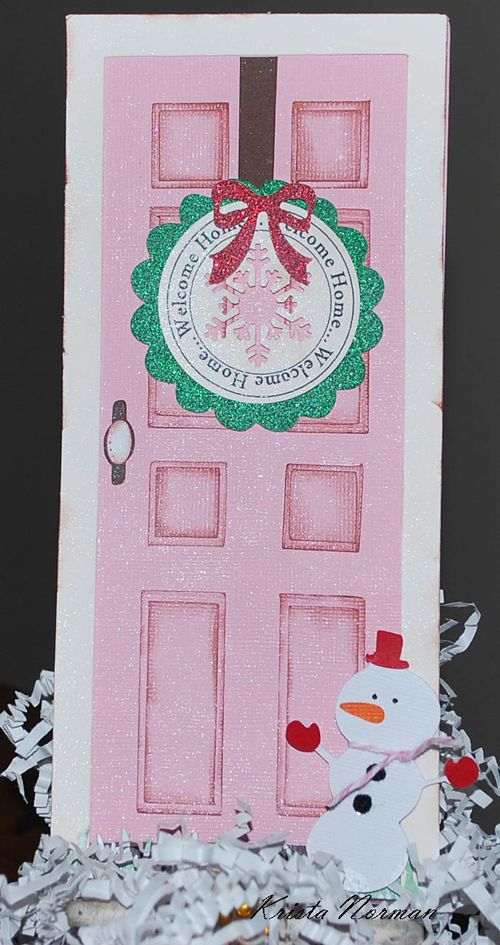 Welcome Home  Krista Norman - Front door shaped card