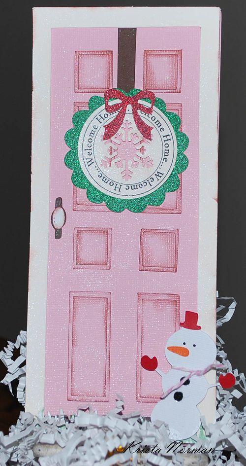 Welcome Home  Krista Norman - Front door shaped card