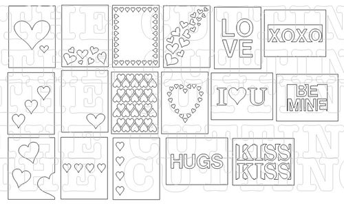 The Cutting Cafe Valentine Window Card Tops Templates Cutting Files