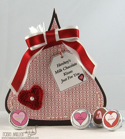Hershey kiss treat box  Rose Miller - Hershey kiss treat box and Valentines day hershey kiss bottoms