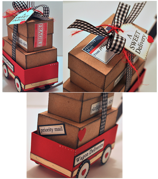 The Cutting Cafe': LITTLE RED WAGON BOX TEMPLATE