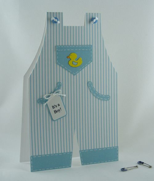It's a boy  Deloris Thiede - Overalls shaped card