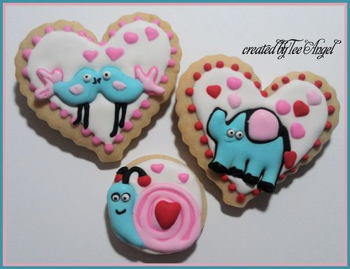 Valentine Cookies  Tee Angel - Valentine animal and bugs