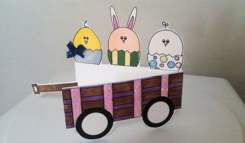 Wagon Tee Angel - Little red wagon box and Easter fun