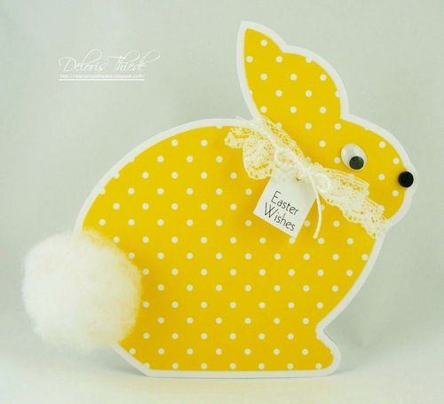 Easter Wishes -Deloris Thiede - Easter Bunny shaped card 2