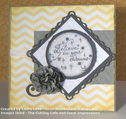 Believe in your dreams - Laura Love - Chevrons fall backgrounds