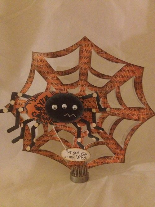 I've got you in  my WEB  Jessica Wilson - spiderweb shaped card