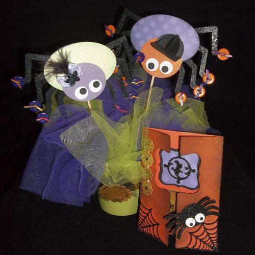 Spider set  Doris Molina - Spiderweb shaped card set