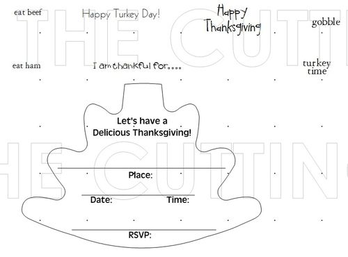 TURKEY SHAPED CARD