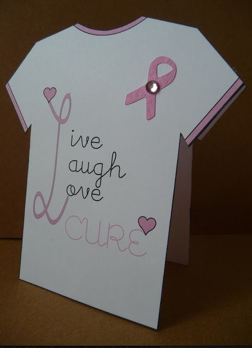 LIVE LAUGH LOVE CURE  Jeri Thomas - Breast cancer t shirt set
