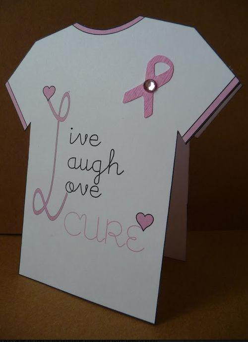 LIVE LAUGH LOVE CURE  Jeri Thomas - Breast cancer t shirt set