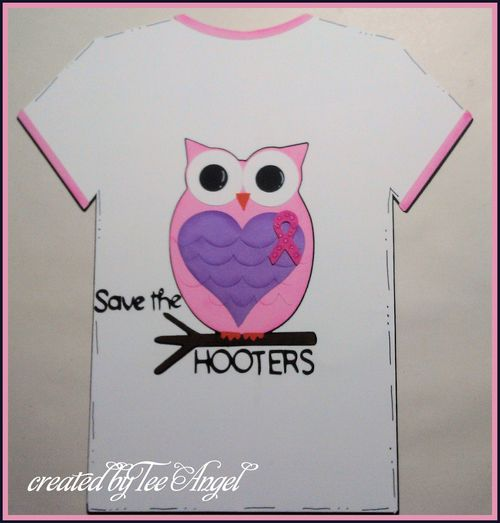 Save the hooters  Tee Angel - Breast cancer t shirt set