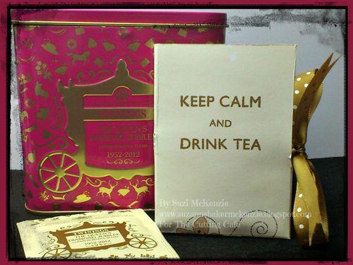 Keep calm and drink tea  Suzi McKenzie - tea bag holder