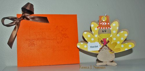 Thanks  Krista Norman - Turkey shaped card