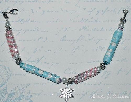 Bracelet  Krista Norman - paper beads set