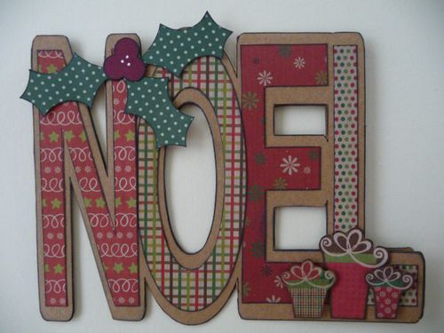 NOEL  Jeri Thomas - Noel word shaped card