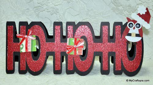 Hohoho  Leslie Foley - hohoho word shaped card
