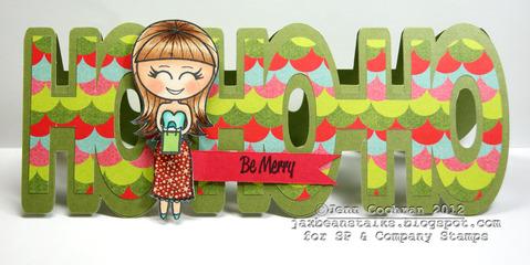 Hohoho Jenn Cochran - hohoho word shaped card