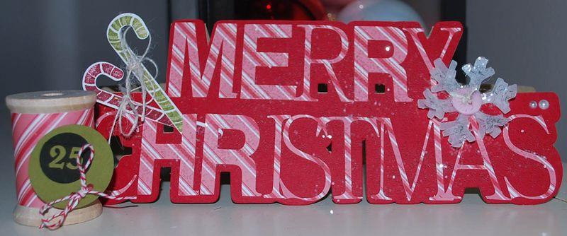 Christmas Krista Norman christmas word shaped card