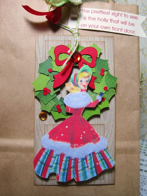 The  prettiest site to see  Lori Hairston - front door shaped card