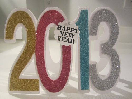 2013 2013 Number shaped card  Karyn Halter