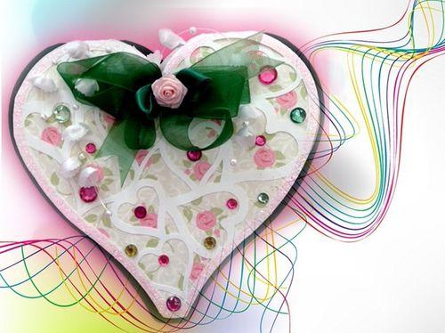 Heart lace shaped card  Misty Morgan - Heart lace shaped card