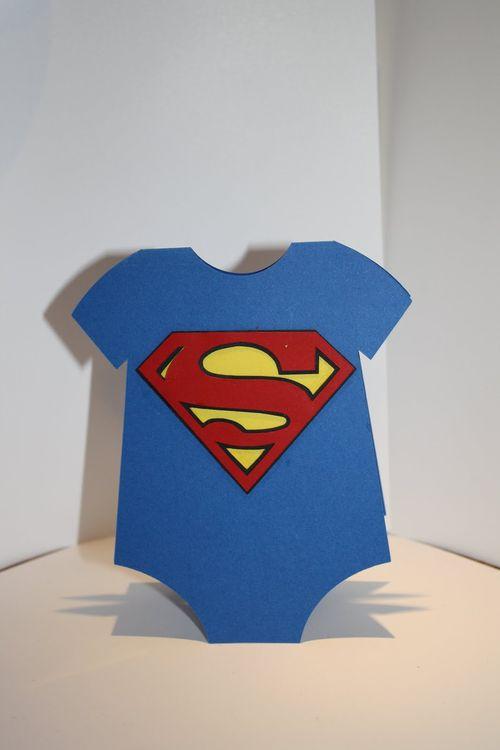 Superman  Tanya Alley - Onesie shaped card