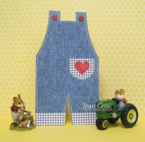 Overalls  Jean Cross - Overalls shaped card