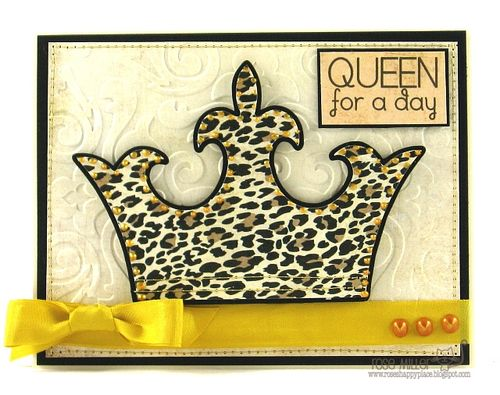 QUEEN for a day  Rose Miller - Crown shaped card