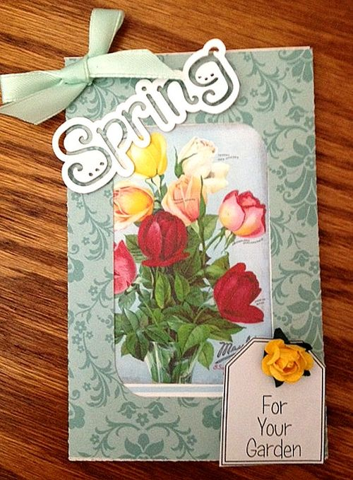 Spring Misty Morgan - seed packet holder