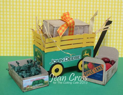 John Deere - Jean cross - Little red wagon set