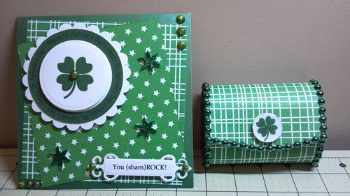 YOU SHAMROCK - Audrey Long - Think Green and Happy St. Patricks day huge circle word