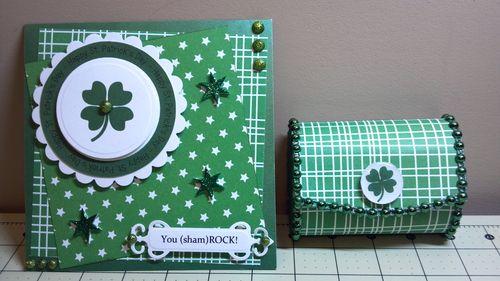 YOU SHAMROCK - Audrey Long - Think Green and Happy St. Patricks day huge circle word