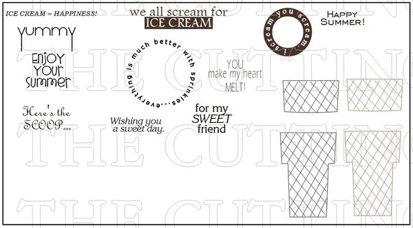 The Cutting Cafe\': TALL ICE CREAM SHAPED CARD TEMPLATE - CUTTING FILE