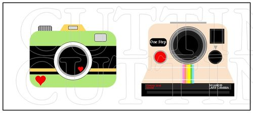 the cutting cafe polaroid and camera fun template and printable set