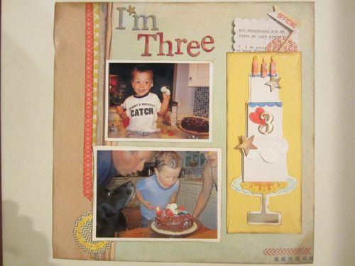 I'm 3 Karyn Halter - Tall Cake shaped card