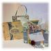 Suitcase set - Lisa Minckler -  Suitcase Mini Book Template and Suitcase Treat box and Postcard printable