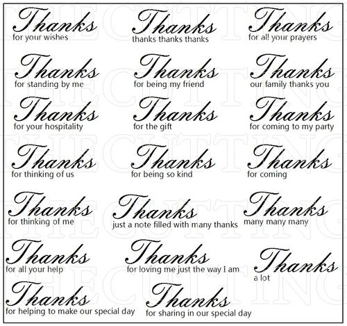 MANY THANKS 2