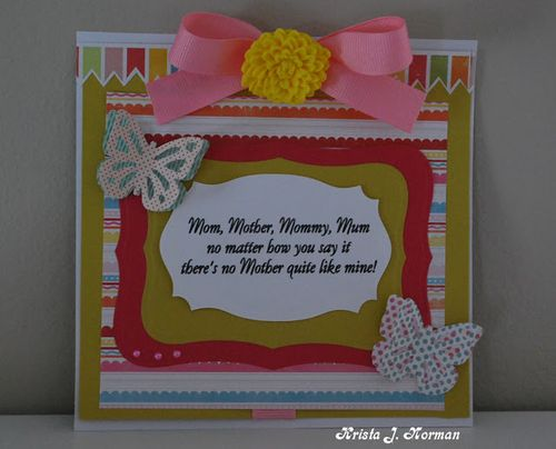 Mom card - Krista Norman - For that wonderful mom