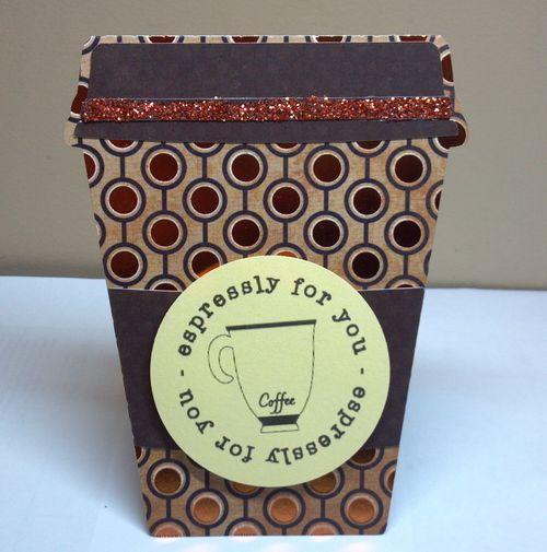 Espressly for you - Audrey Long - Coffee cup shaped card 2