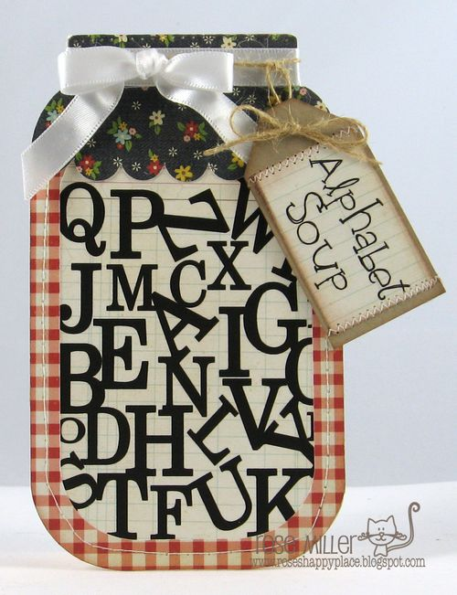 Alphabet Soup - Rose Miller - Jar shaped card