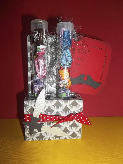 Birthday invite set - Doris Molina - Ahoey Matey and Test tube candy holder set