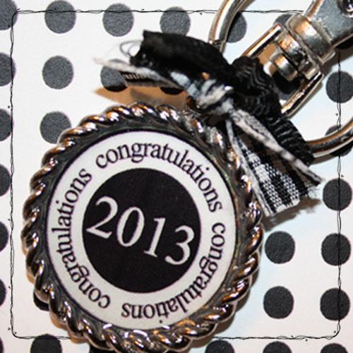 Graduation key chain - Tanya Alley - Graduation hershey kiss bottoms