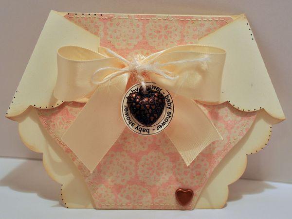 the cutting cafe u0026 39   diaper shaped card  u0026 invite set