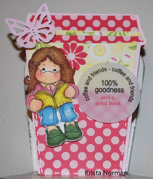 100% goodness - Krista Norman - Coffee cup shaped card 2